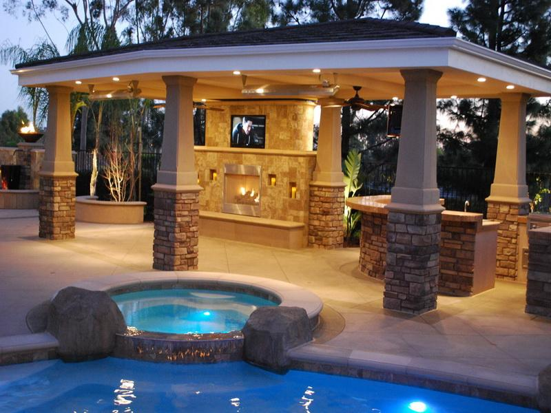 Charming Covered Patio Lighting Idea