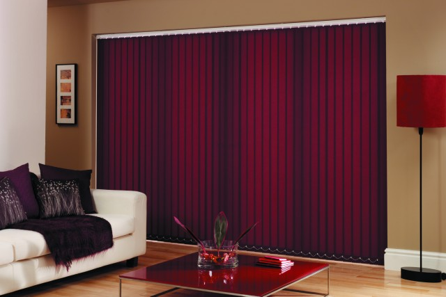 Red Vertical Blind