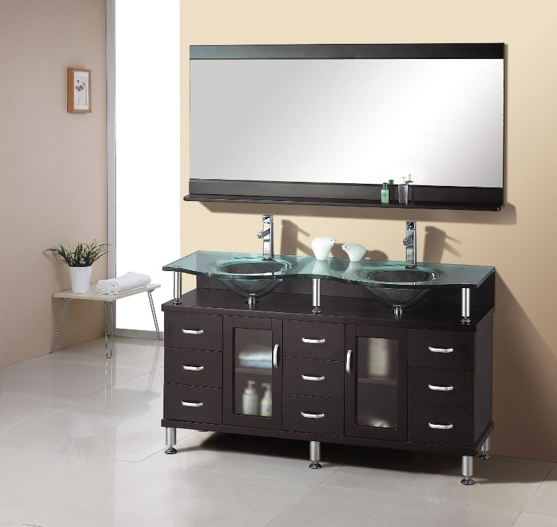Double Sink Bathroom Vanities for a Small Bathroom