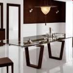 Elegant Glass Dining Room Table