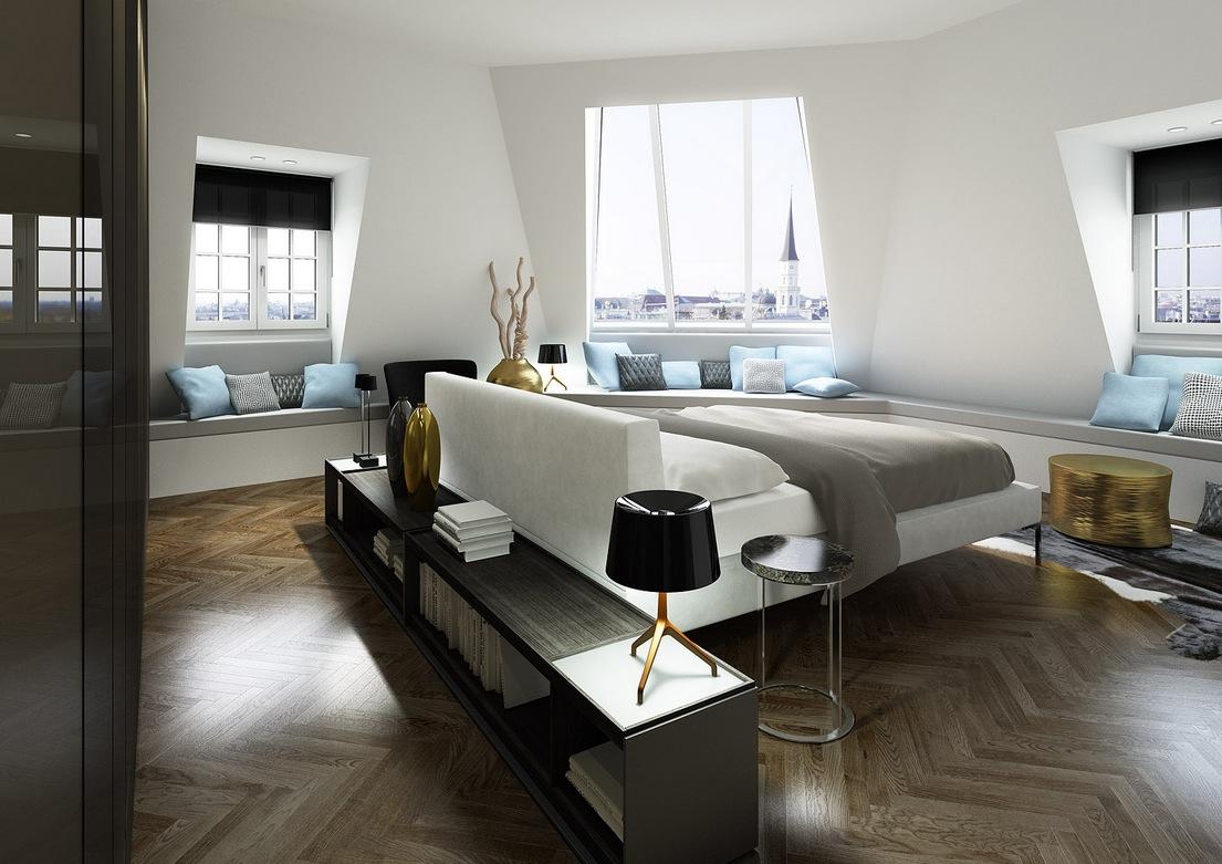White and blue modern bedroom - Elegant Modern Bedroom 20 Trending Modern Bedroom Designs In 2014 Qnud