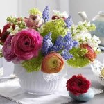 Floral Dining Table Centerpiece