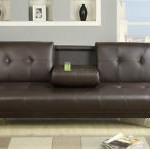 Leather Futon Sofa Bed