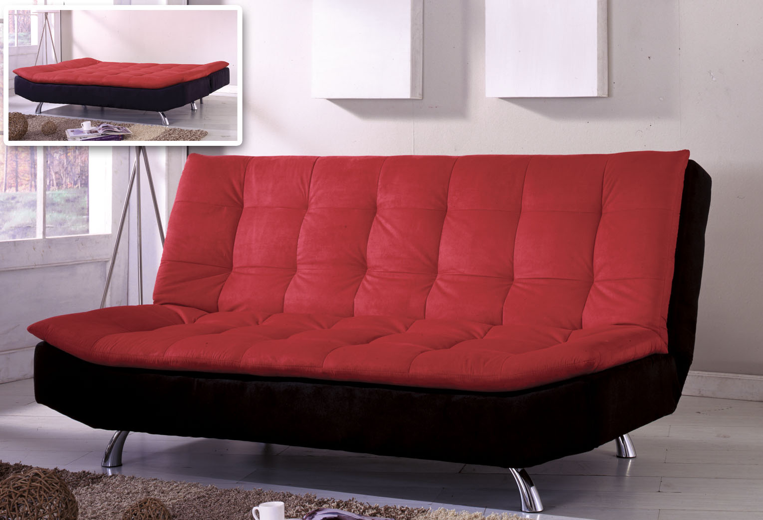 Futon couch bed 6451 Couch and bed