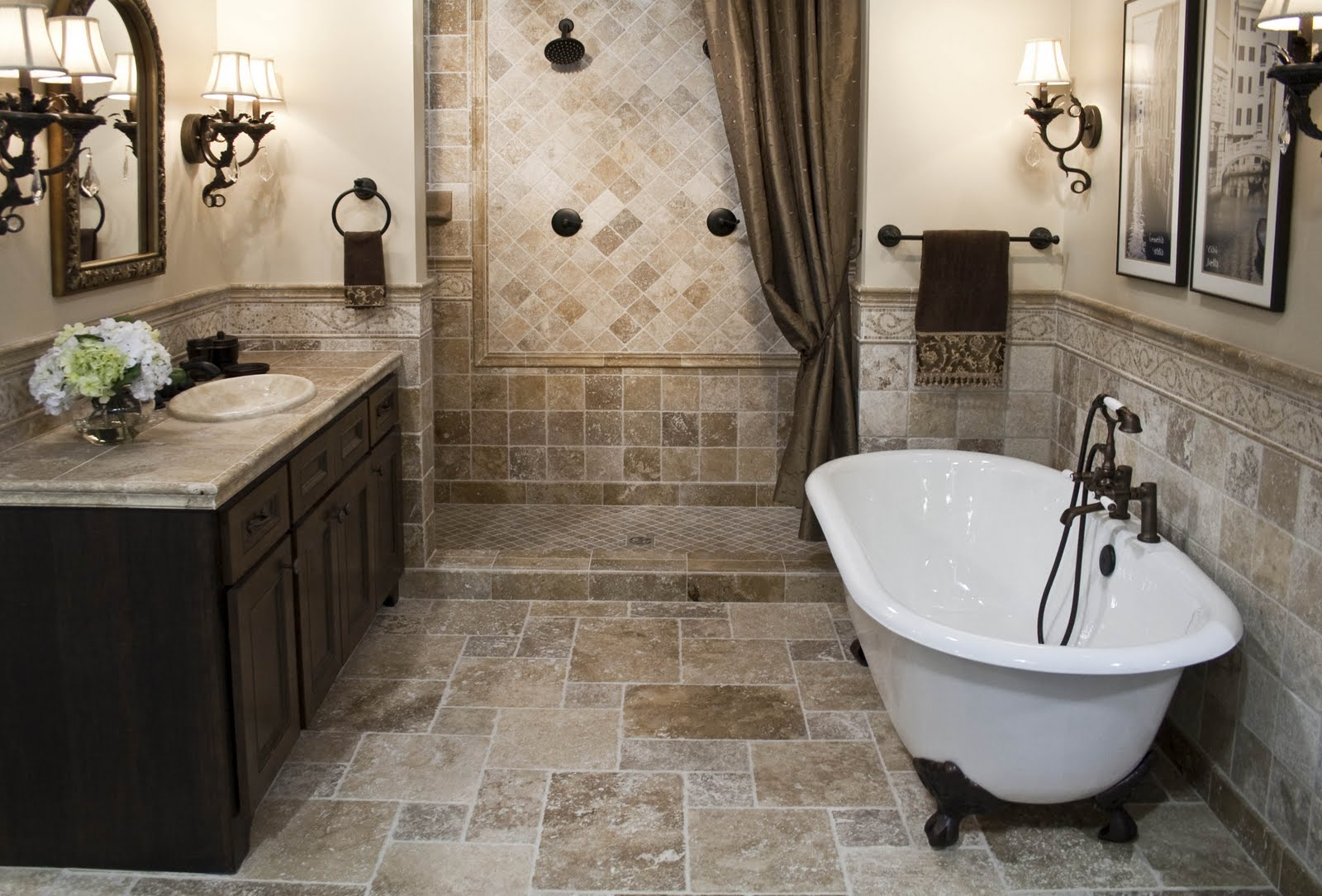 The top 20 small bathroom design ideas for 2014 qnud for Tile designs in bathroom