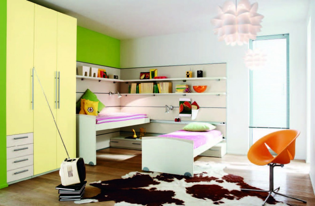 Girls Colorful Modern Bedroom