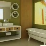 Green Bathroom Paint