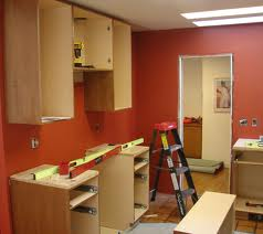Hanging the Kitchen Cabinets