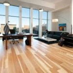 Hardwood Floor Installation in the Family Room