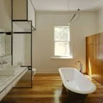Hardwood Flooring in Bathroom
