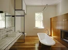Hardwood Flooring in Bathroom