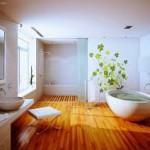 Hardwood Floors in the Bathroom
