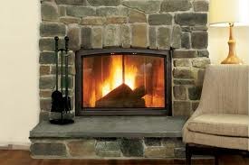 Indoor Cobblestone Fireplace