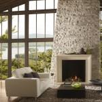 Indoor Cobblestone Fireplace