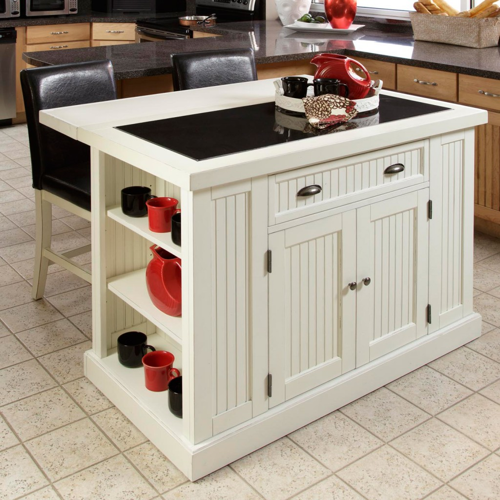 Kitchen Island Cart with Shelves
