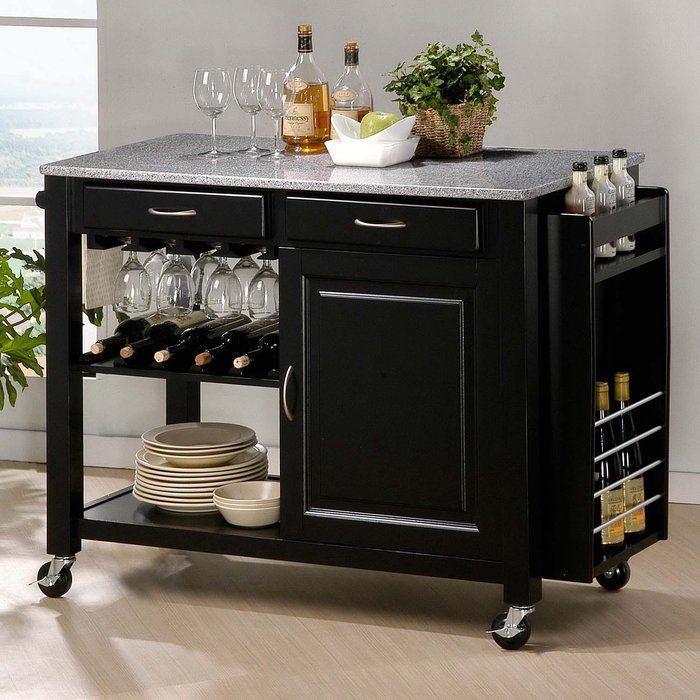 Granite Kitchen Island Cart