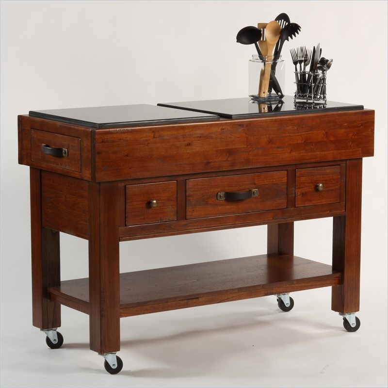 Antique kitchen island cart 6551 for Antique kitchen island