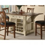 Kitchen Island Cart With Coasters