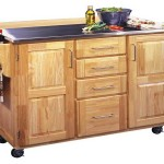 Brown Kitchen Island Cart