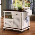 Kitchen Island Cart with Shuttered Door
