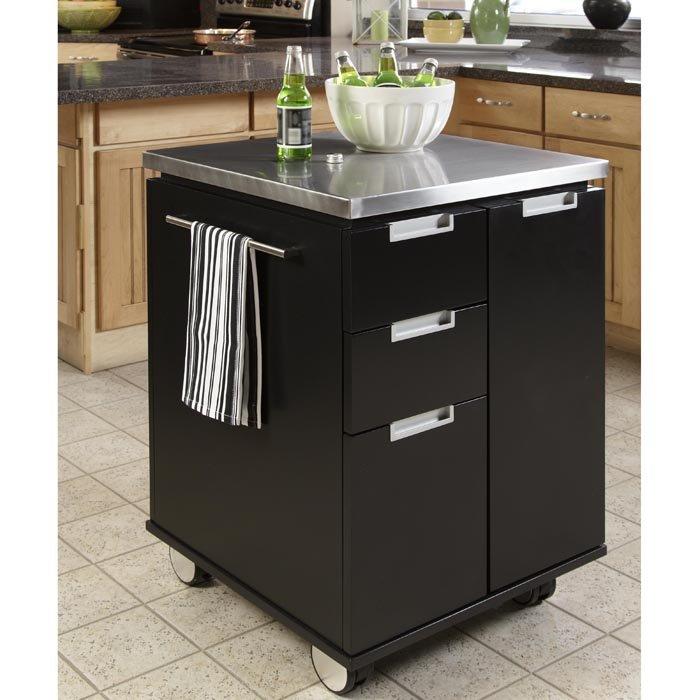 Superb Black Kitchen Island Cart