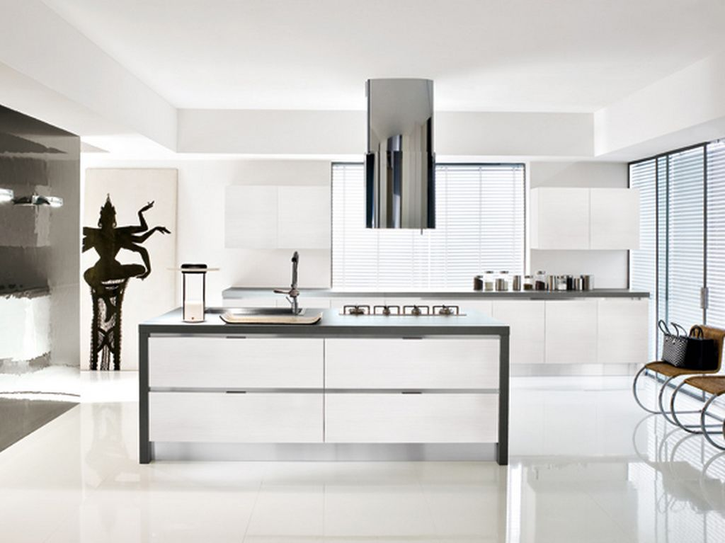 White kitchen ideas qnud for Kitchen improvement ideas