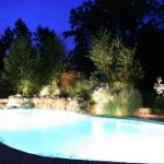 Landscape Lighting by the Pool