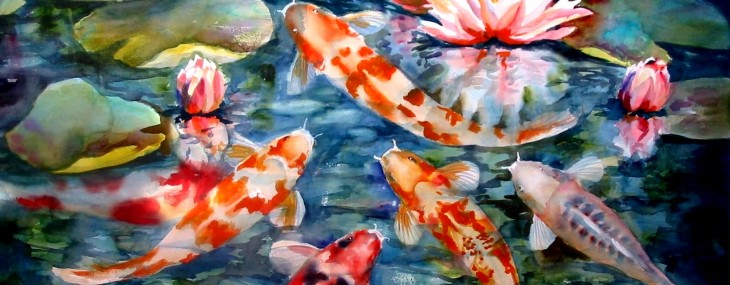 Large koi fish pond home decor at its finest qnud for Large coy fish