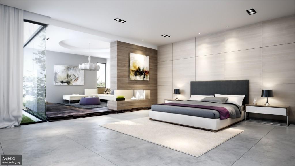 Large Modern Bedroom Designs