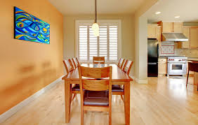 White Oak Hardwood Flooring in Dining Room
