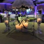 Lighted Glass Dining Table Centerpiece