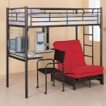 Loft Bunk Bed with a Chair