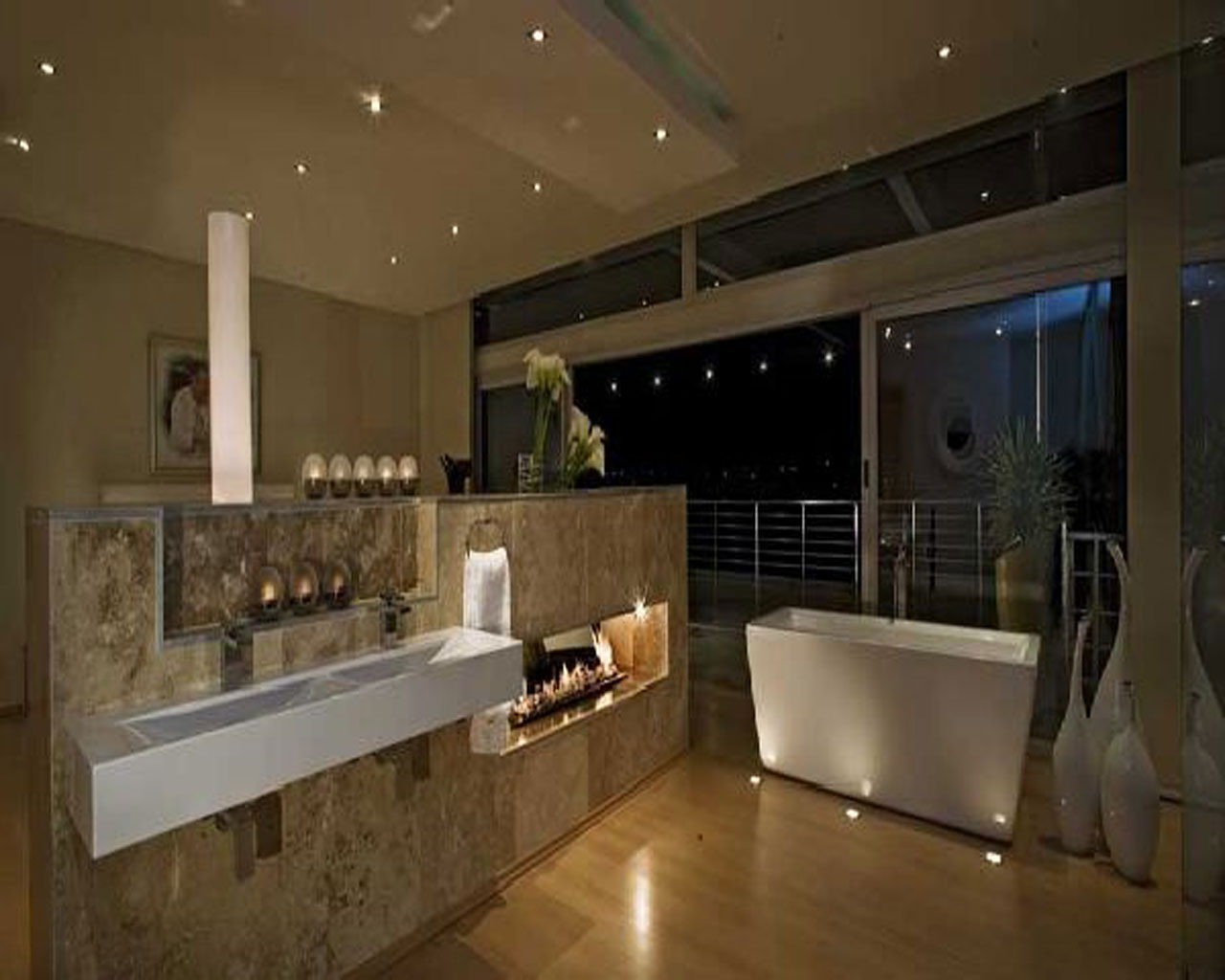 25 must see modern bathroom designs for 2014 qnud for Home restroom design