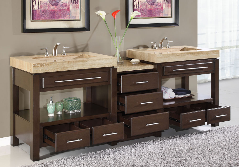 Luxury bathroom double sink vanities 6797 for Bathroom ideas double sink