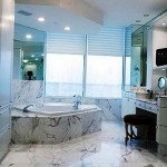 Marble Bathroom Window Treatment Ideas