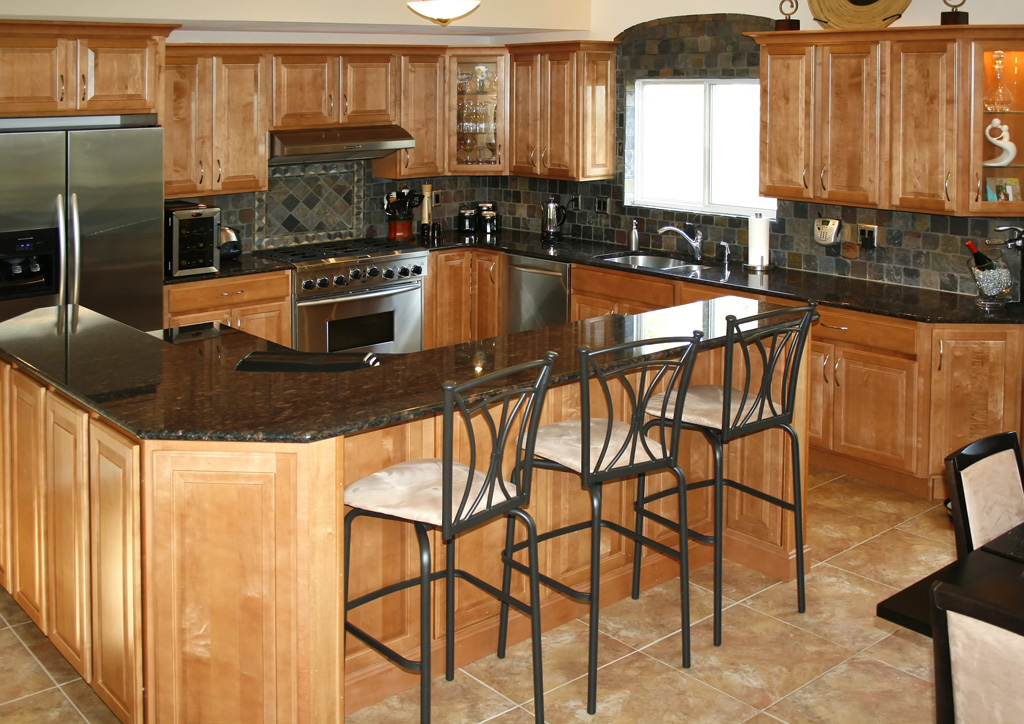 Rustic kitchen backsplash ideas home decorating ideas Granite kitchen design ideas