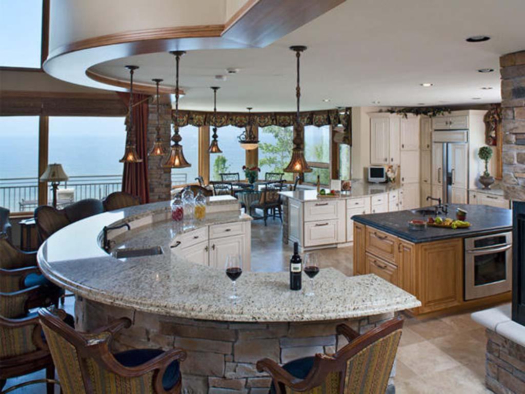 Marble Top Kitchen Island