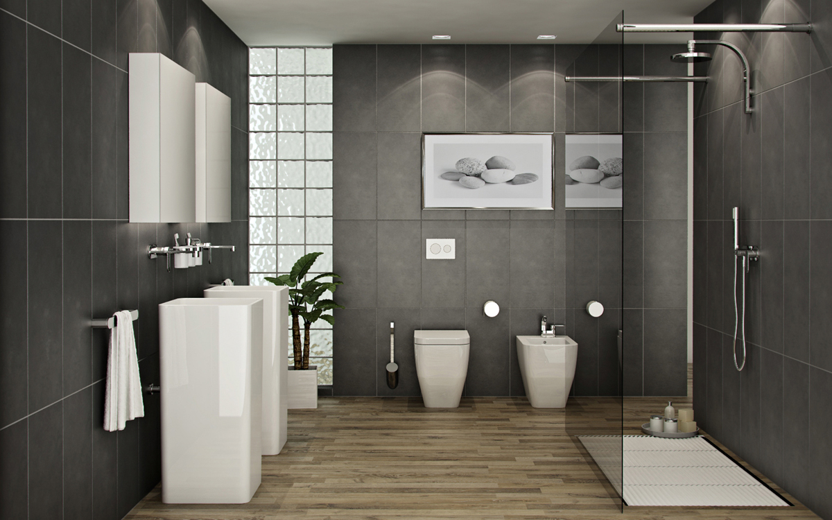 25 must see modern bathroom designs for 2014 qnud for Pictures of new bathrooms