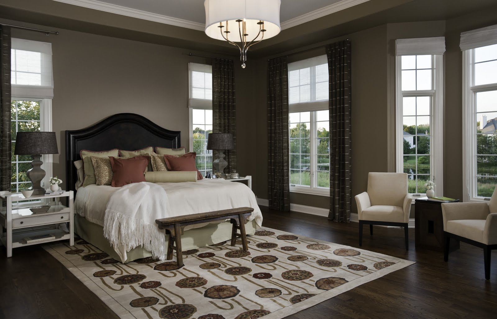 Charmant Master Bedroom Window Treatment Designs