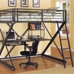 Metal Bunk Beds with Desk