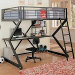 Metal Loft Beds with Desk