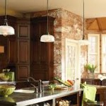 Mini Pendant Lights over Kitchen Island