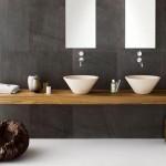 Minimal Double Sink Contemporary Bathroom Vanity