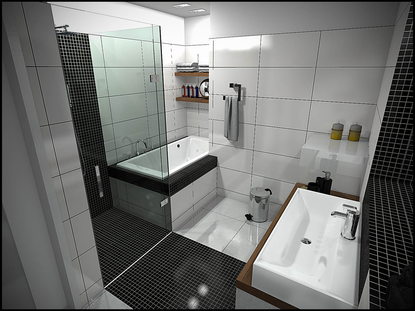 Top Small Bathroom Ideas For Qnud - Small bathroom designs with shower and tub