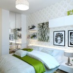 Modern Bedroom with Green Accents