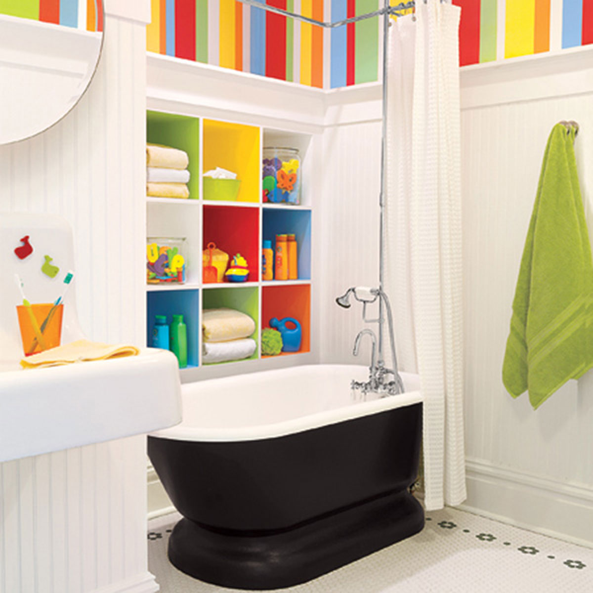 Modern kids bathroom furniture 6162 for Cool cheap bathroom ideas