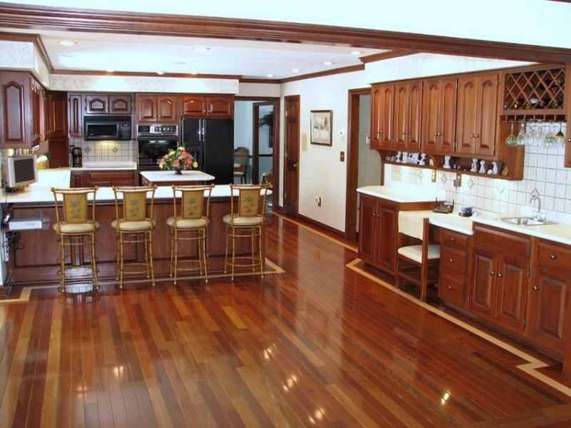 Modern Kitchen Ideas Return To Brazilian Cherry Hardwood Flooring