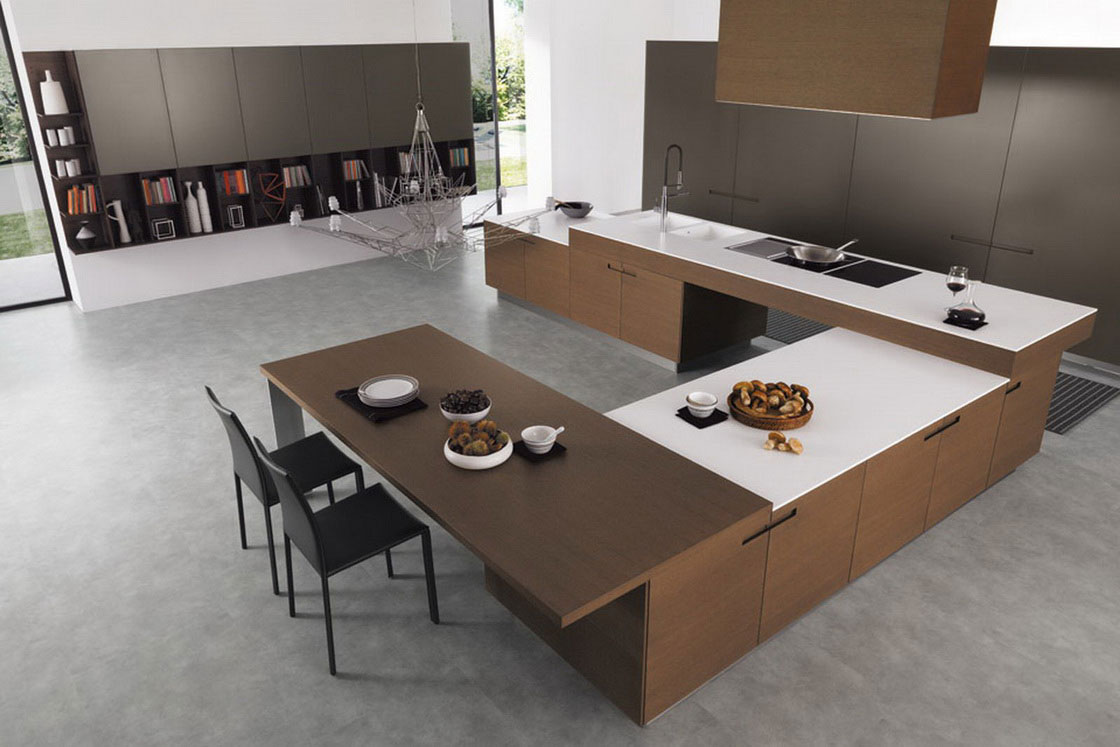 The most new and unique kitchen island designs for 2014 qnud for Unique modern kitchens