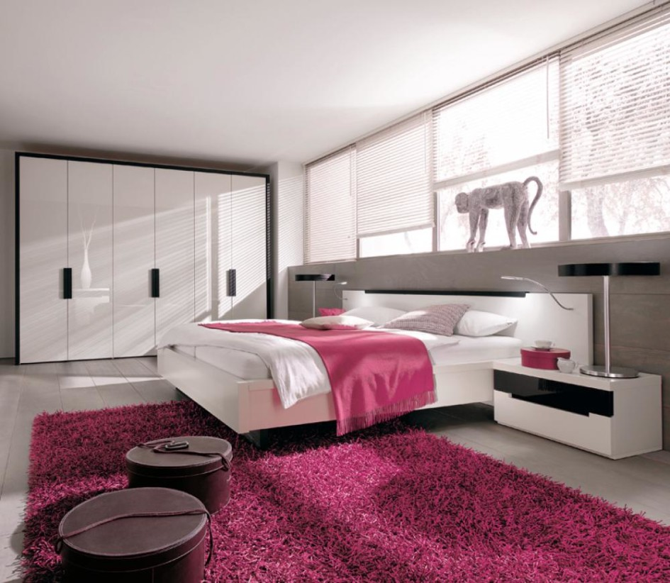 . Modern Pink Bedroom Design  6822