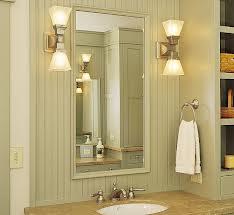 Nickel Finish Bathroom Light Fixture